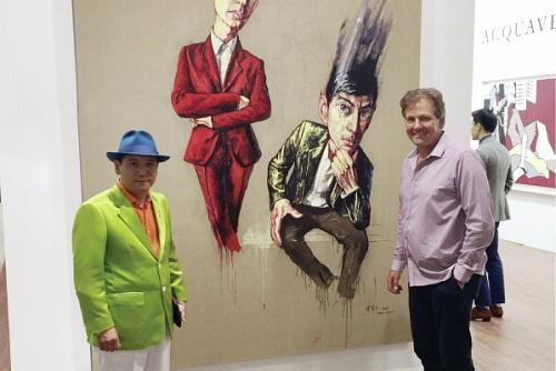Dabing Chen e Herman Steyn ad Art Basel Hong Kong