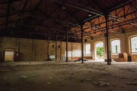 Gli spazi dell'ex Caserma Guido Reni a Roma