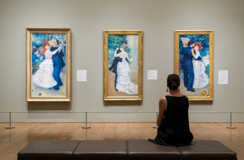 Installation shot, Discovering the Impressionists: Paul Durand-Ruel and the New Painting, Philadelphia Museum of Art