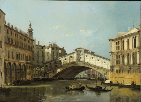 Ippolito Caffi, Venezia. Ponte di Rialto, 1845 - Venezia, Fondazione Musei Civici di Venezia-Galleria Internazionale d'Arte Moderna di Ca' Pesaro