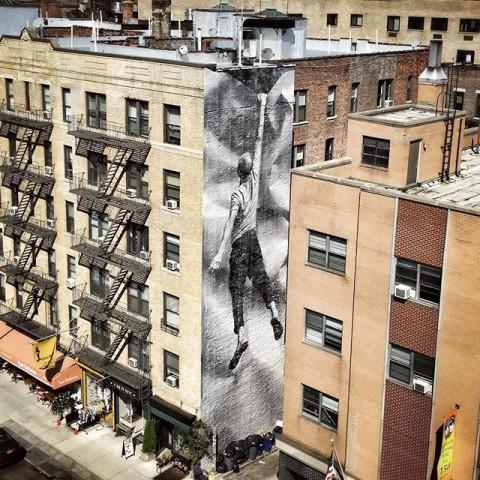 JR, nuova opera a New York, Soho - Ph. via JR Instagram