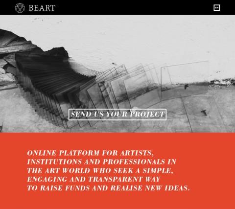 La landing page del sito BeArt