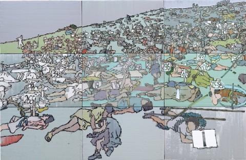 Li Songsong, Historical Materialism, 2014 - olio su tela - courtesy l'artista e Pace Gallery, Beijing