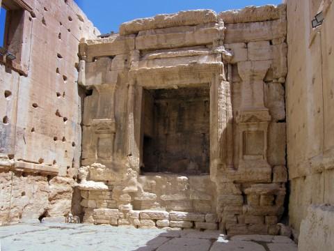 L'interno del tempio di Baal Shamin a Palmira