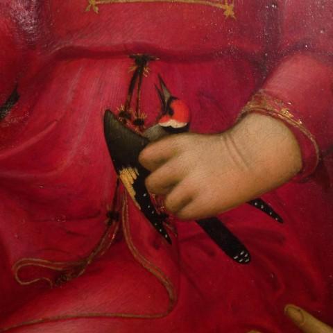 Lippo Memmi, Madonna con Bambino, particolare