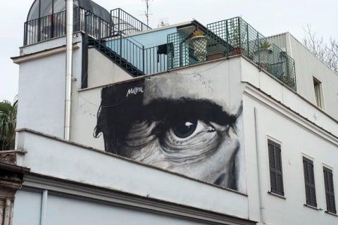 Mauro Pallotta aka Maupal, L'occhio è l'unico che può accorgersi della bellezza, 2014 - via Fanfulla da Lodi, Roma - photo Giorgio Benni