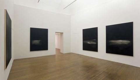 Mauro Vignando - All that's missing is you – veduta della mostra presso ABC Arte, Genova 2015 - Black Paintings