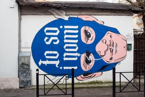 Omino 71, Io so i nomi, 2014 - via Fanfulla da Lodi, Roma - photo Giorgio Benni