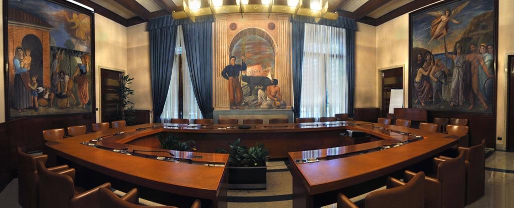 Palazzo della Direzione Generale BNL - Sala Comitato, Roma