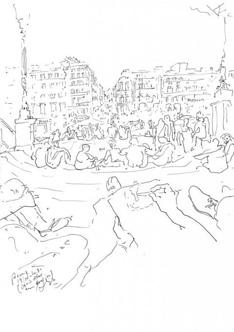 Álvaro Siza, schizzo di Piazza di Spagna