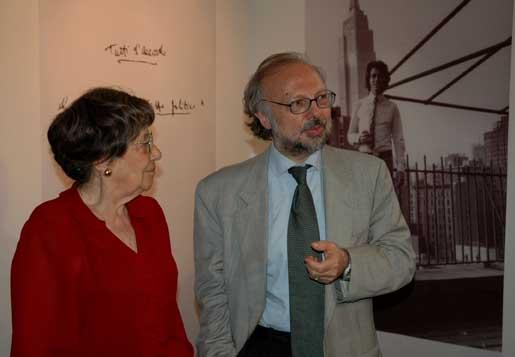 Alba Mazzei Di Sarro con Gianni Borgna - Centro Di Sarro, Roma 2005