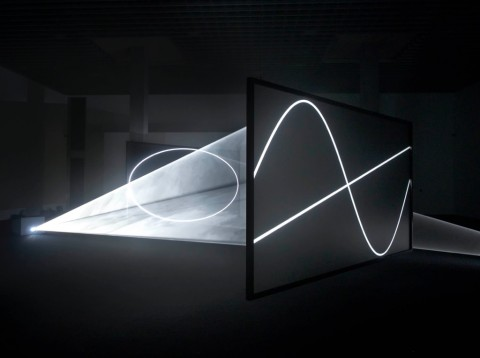 Anthony McCall – Solid Light Works - veduta della mostra presso MASILugano, Lugano 2015 - photo Stefania Beretta, Verscio