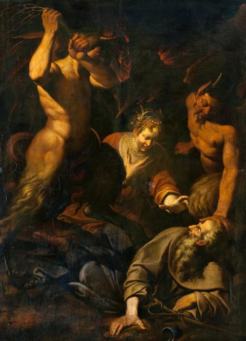 Camillo Procaccini, Le tentazioni di sant'Antonio Abate, 1590-95 – Galleria Nobili, Milano