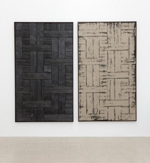 Davide Balula, Burnt Painting, Imprint of the Burnt Painting - dittico, 2015