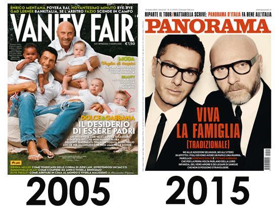 Dolce & Gabbana nel 2005 e nel 2015
