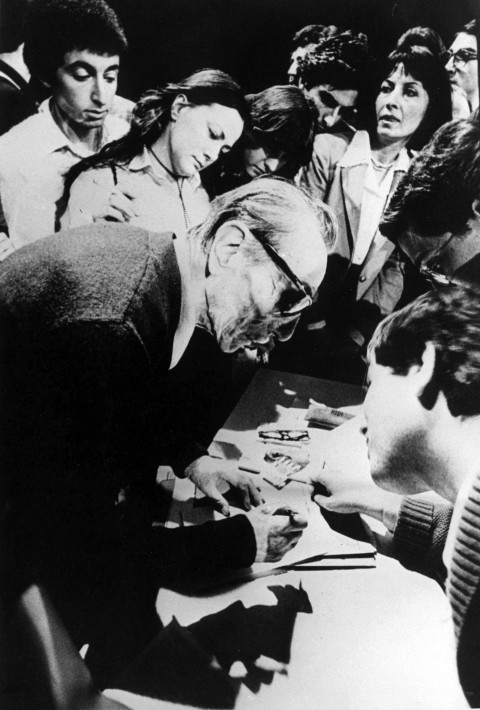 Eduardo De Filippo al Teatro Ateneo nel 1981