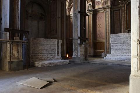 Gian Maria Tosatti, 1_La peste (Sette Stagioni dello Spirito, 2013), Chiesa dei SS. Cosma e Damiano
