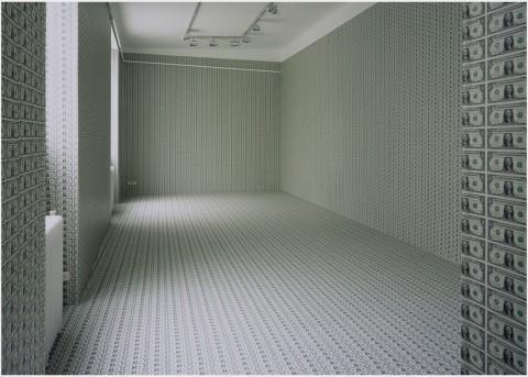 Gianni Colosimo, Wallpaper. Il vortice del desiderio e privo di orizzonte, Galleria Pack, Milano 2006 - photo Paolo Pellion