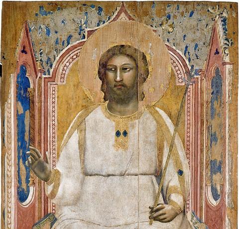 Giotto, Dio Padre in trono (particolare), 1303-05 ca. - dalla cappella degli Scrovegni, Padova, Musei Civici di Padova, Museo d'arte medievale e moderna