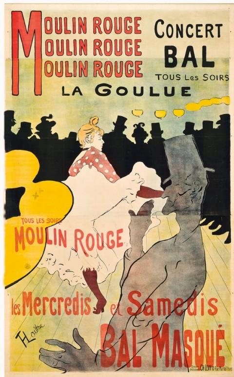 Henri de Toulouse-Lautrec, Moulin Rouge. La Goulue, 1891 – stampato da Charles Levy, Parigi