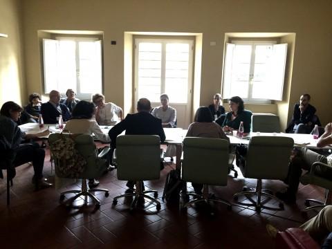 Il tavolo dei concorsi a Prato