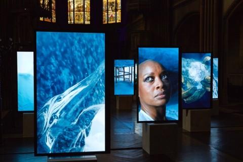 Isaac Julien, Stones against Diamonds, 2015 - veduta dell'allestimento ad Art Basel 2015