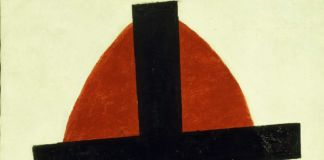 Kazimir Malevich, Mystic Suprematism (Black Cross on Red Oval), 1920-22