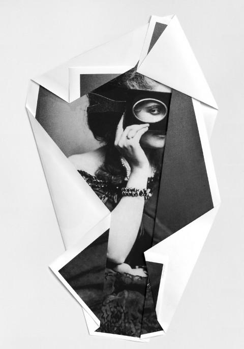 Mario Cresci, dalla serie I rivolti, Contessa di Castiglione #2, 2013