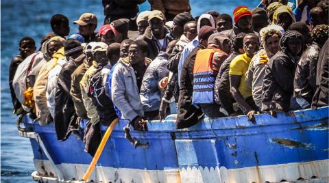 Migranti verso Lampedusa
