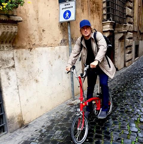 Owen Wilson a Roma per Zoolander 2