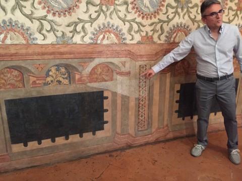 Rocca di Vignola - Achille Lodovisi spiega il ritrovamente degli affreschi originali