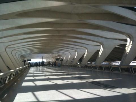 Santiago Calatrava, Aeroporto di Lione - photo Claudia Zanfi