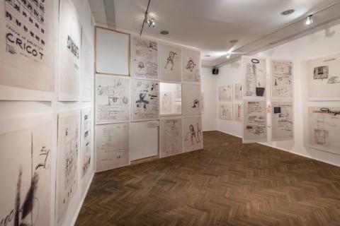 Tadeusz Kantor – Rough Drafts – veduta della mostra presso la Galleria Foksal, Varsavia 2015 - photo Bartosz Górka