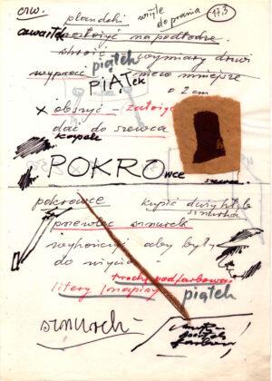 Tadeusz Kantor – Rough Drafts