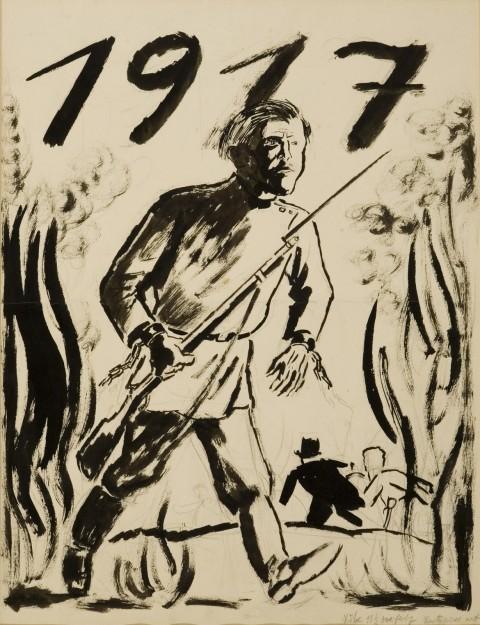 Un disegno di George Grosz del 1917