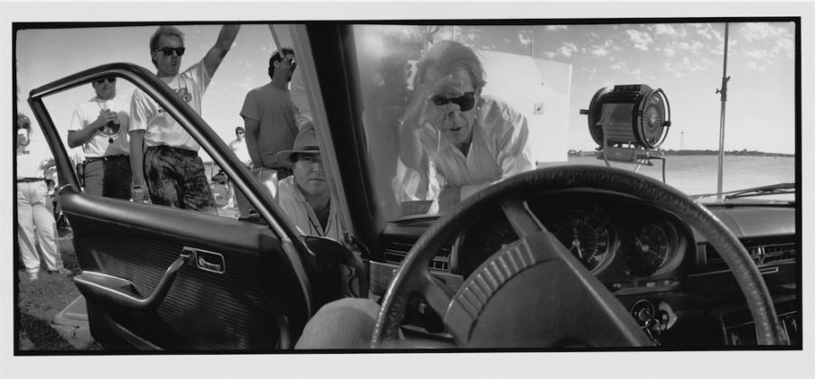 © 2015 Jeff Bridges, All Rights Reserved, Peter Bogdanovich. Lining up at shot, Texasville, 1990