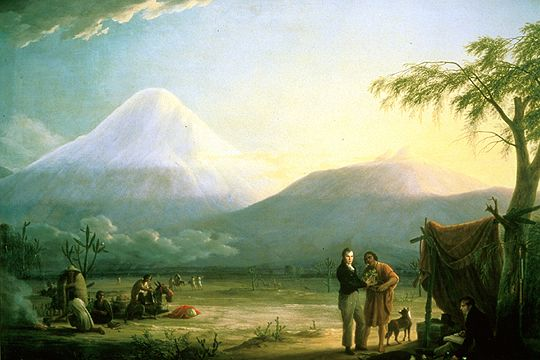 Alexander von Humboldt e Aime Bonpland ai piedi del Chimborazo. 1810