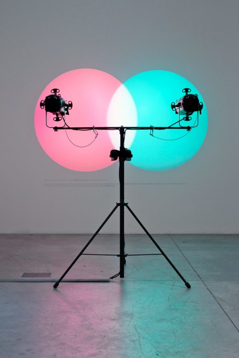 Amalia Pica, Venn Diagrams (In the spotlight), 2011 - courtesy Patricia Phelps de Cisneros Collection