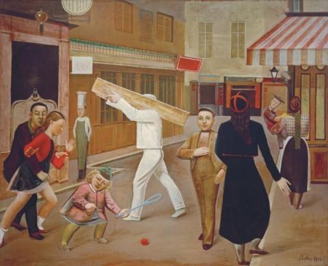 Balthus, La Rue, 1933 - New York, The Museum of Modern Art - © Balthus © Mondadori Portfolio-AKG Images
