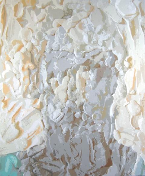 Cristiano De Gaetano, morgan le fay III, 2008 - acrlici su tela, 120x100 cm - courtesy The Flat, Milano