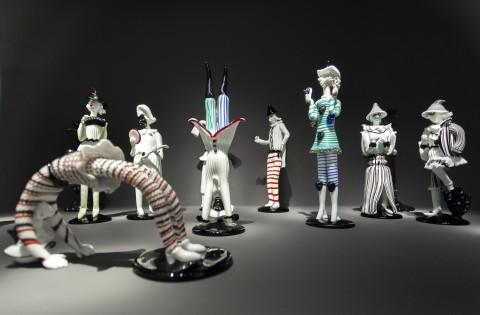 Fulvio Bianconi, figurine della Commedia dell'arte, 1948, photo Enrico Fiorese