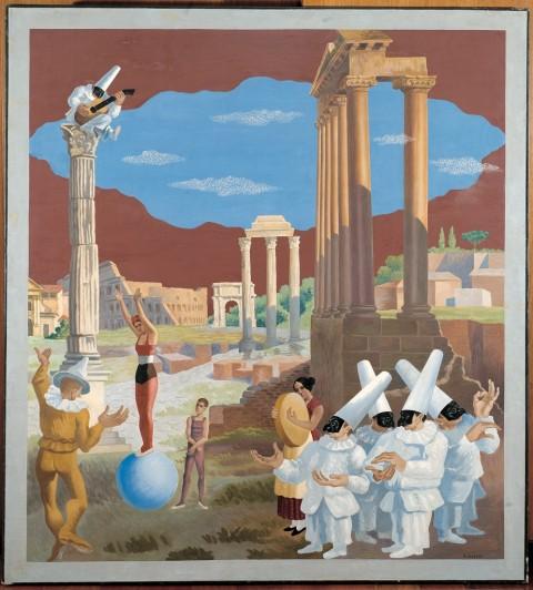 Gino Severini, L'équilibriste, 1928. Collezione Banca Monte dei Paschi di Siena