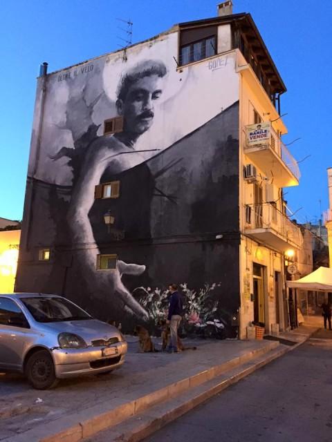 Gomez, Oltre il velo - Corato (Bari) - opera realizzata per Verso Sud nel 2015