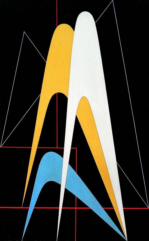 Gualtiero Nativi, Forme nello spazio, 1948. Courtesy Frittelli Arte Contemporanea, Firenze