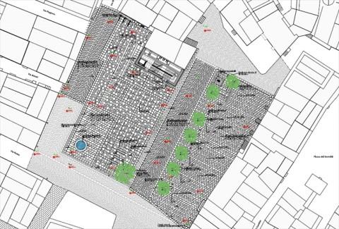 Il progetto della nuova piazza Di Vagno, a Corato - © Comune di Corato