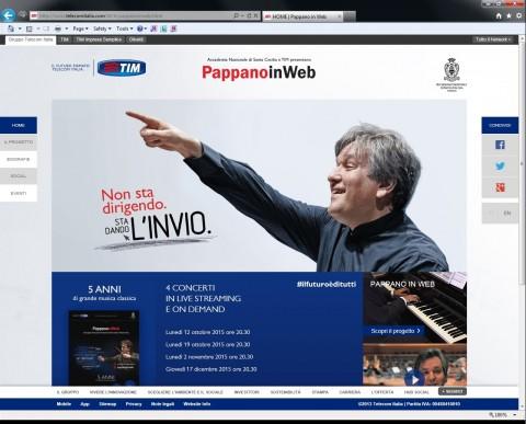 La homepage del sito TIM per PappanoinWeb 2015