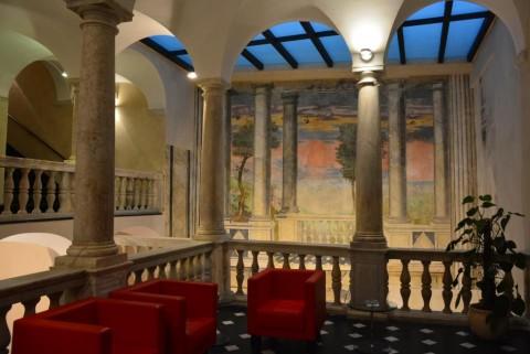 Loggiato di Palazzo Doria, sede della Fondazione Carige a Genova © Linda Kaiser