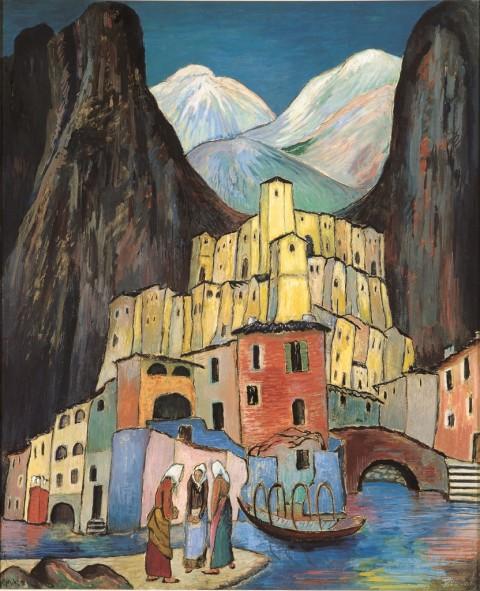 Marianne Werefkin, La città dolente, 1930 ca. - Fondazione Marianne Werefkin, Museo Comunale d'Arte Moderna, Ascona
