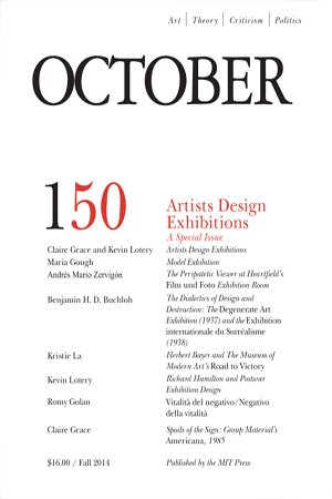 October n 150 (2014), con l'articolo dedicato a Vitalità del negativo di Achille Bonito Oliva