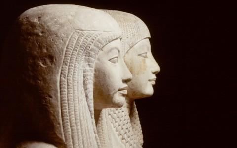 Statue della coppia Maya e Meryt